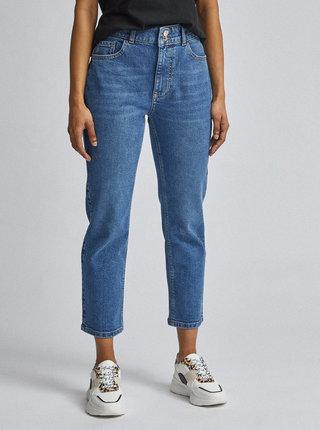 Modré zkrácené straight fit džíny Dorothy Perkins Petite