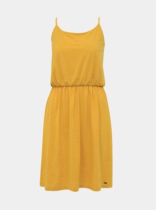 Horčicové basic šaty s prímesou ZOOT Baseline Radka