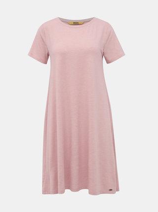 Svetloružové basic šaty ZOOT Baseline Bela