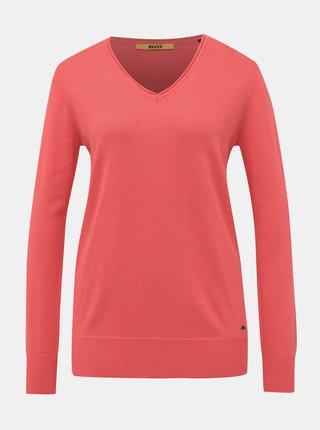 Koralový dámsky basic sveter ZOOT Baseline Irma