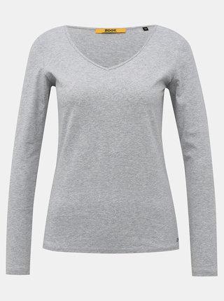 Světle šedé dámské basic tričko ZOOT Baseline Tamara