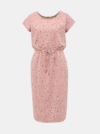 Svetloružové vzorované šaty ZOOT Baseline René