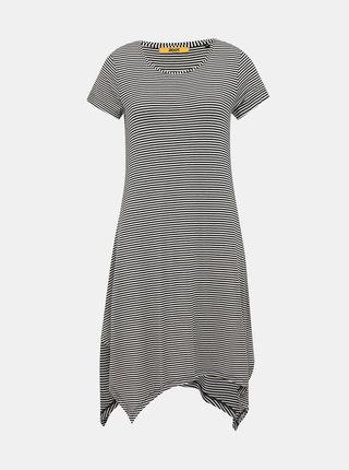 Bielo-čierne pruhované basic šaty ZOOT Baseline Cornelie