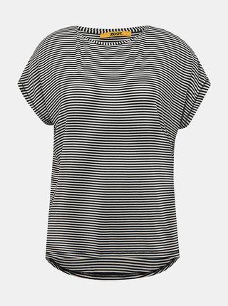 Bielo-čierne dámské pruhované basic tričko ZOOT Baseline Christl