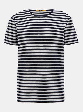 Modro-bílé pánské pruhované basic tričko ZOOT Baseline Freddy