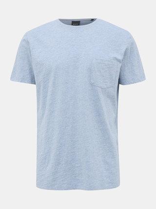 Světle modré pánské basic tričko ZOOT Brandon