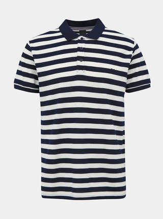 Bílo-modré pánské pruhované basic polo tričko ZOOT Lucas