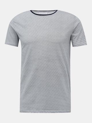 Bílo-modré vzorované tričko Lindbergh