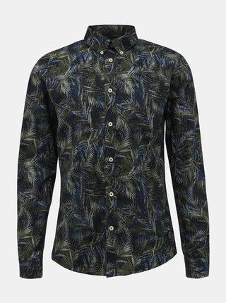 Tmavozelená vzorovaná košeľa Shine Original