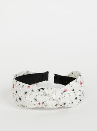 Bílá květovaná čelenka Pieces Nacie
