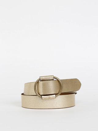 Kožený pásek ve zlaté barvě Pieces Pilja