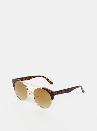Hnedé slnečné okuliare so zvieracím vzorom VILA Farida