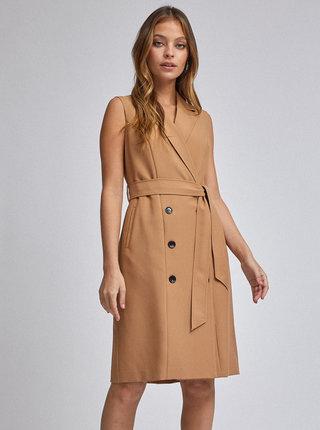 Hnědé šaty Dorothy Perkins Petite