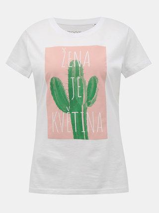 Bílé dámské tričko ZOOT Original Žena je květina