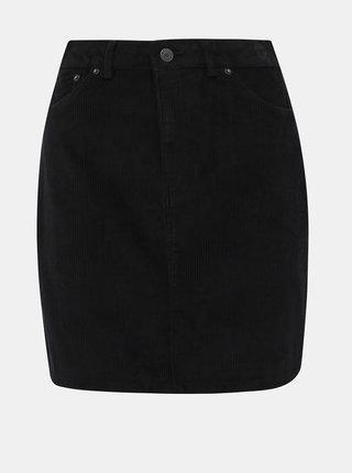 Černá manšestrová sukně VERO MODA Karina