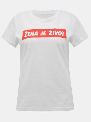 Bílé dámské tričko ZOOT Original Žena je život