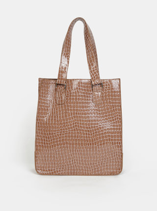 Hnedá kabelka s hadím vzorom VERO MODA Abba