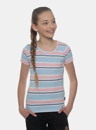 Světle modré holčičí pruhované tričko SAM 73
