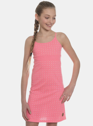 Růžové holčičí vzorované šaty SAM 73