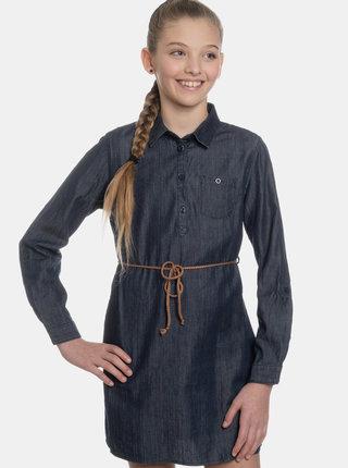 Tmavě modré holčičí košilové šaty SAM 73