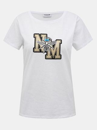 Bílé tričko Noisy May Macie