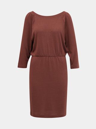 Cihlové svetrové šaty Noisy May Halley