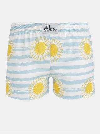 Modro-bílé dámské pruhované trenýrky s potiskem El.Ka Underwear