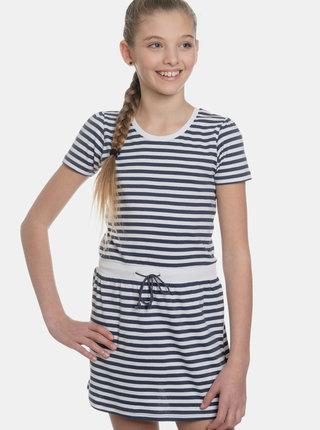 Bílo-modré holčičí pruhované šaty SAM 73