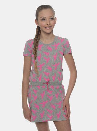 Šedé holčičí vzorované šaty SAM 73