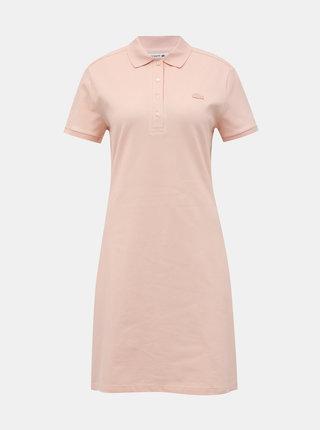 Svetloružové basic šaty Lacoste