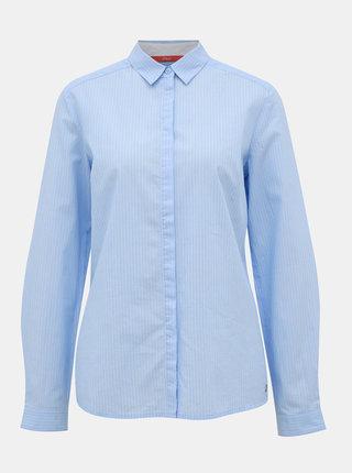 Svetlomodrá dámska pruhovaná košeľa s.Oliver