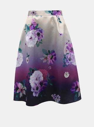 Fialová květovaná sukně Dorothy Perkins