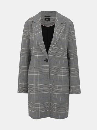 Šedý kockovaný ľahký kabát ONLY Selena