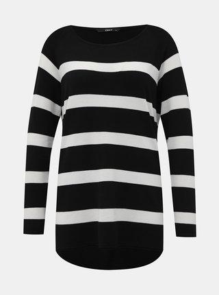 Bílo-černý pruhovaný basic svetr ONLY Selena