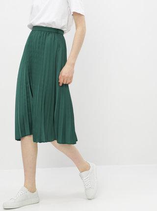 Zelená plisovaná midi sukňa ZOOT Kate