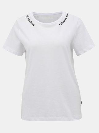 Bílé tričko Noisy May Nate