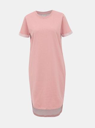Růžové mikinové basic šaty Jacqueline de Yong Ivy