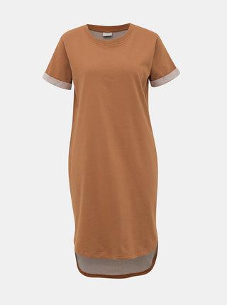 Hnědé mikinové basic šaty Jacqueline de Yong Ivy