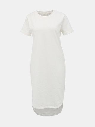 Biele mikinové basic šaty Jacqueline de Yong Ivy