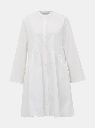 Biele košeľové šaty ONLY Ditte