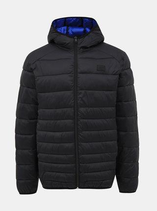Černá prošívaná voděodpudivá bunda Jack & Jones