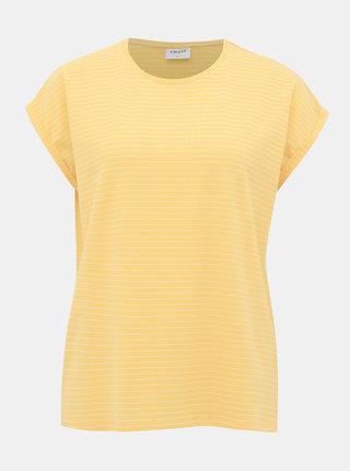 Žlté pruhované tričko AWARE by VERO MODA Ava