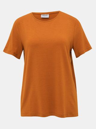 Hnedé basic tričko AWARE by VERO MODA Ava