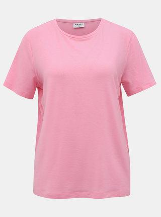 Rúžové basic tričko AWARE by VERO MODA Ava