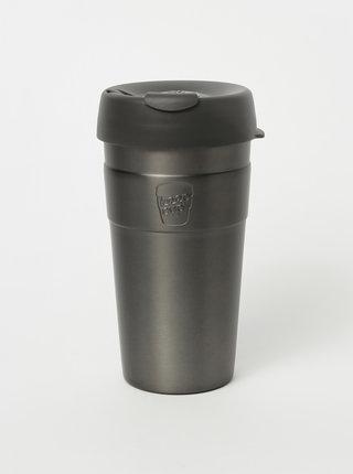Šedý nerezový cestovný hrnček KeepCup Thermal large  454 ml