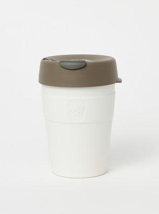 Bílý nerezový cestovní hrnek KeepCup Thermal medium 340 ml