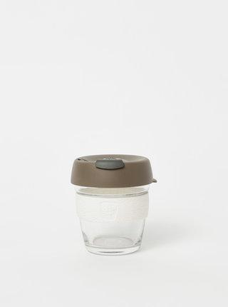 Hnědý skleněný cestovní hrnek KeepCup Brew small 177 ml