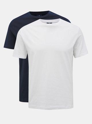 Sada dvou pánských basic triček v bílé a modré barvě Champion