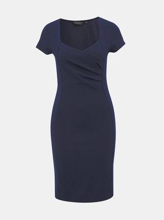 Tmavomodré púzdrové šaty Dorothy Perkins