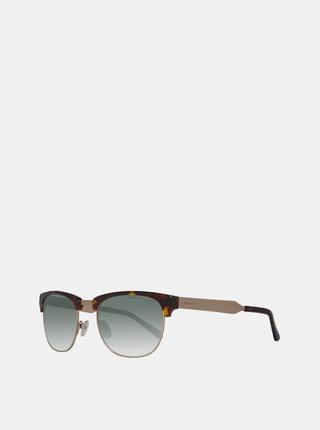 Hnedé vzorované slnečné okuliare GANT
